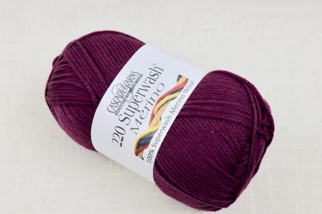 cascade yarns 220 superwash merino 21 dark berry
