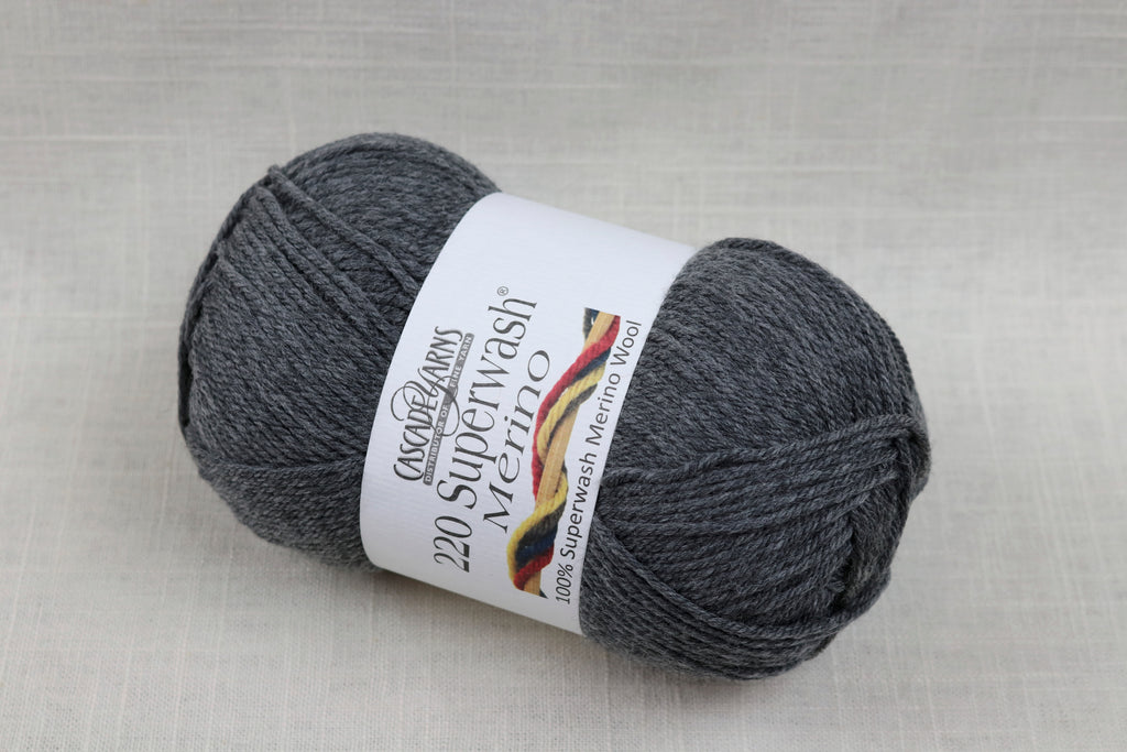 cascade yarns 220 superwash merino 27 charcoal