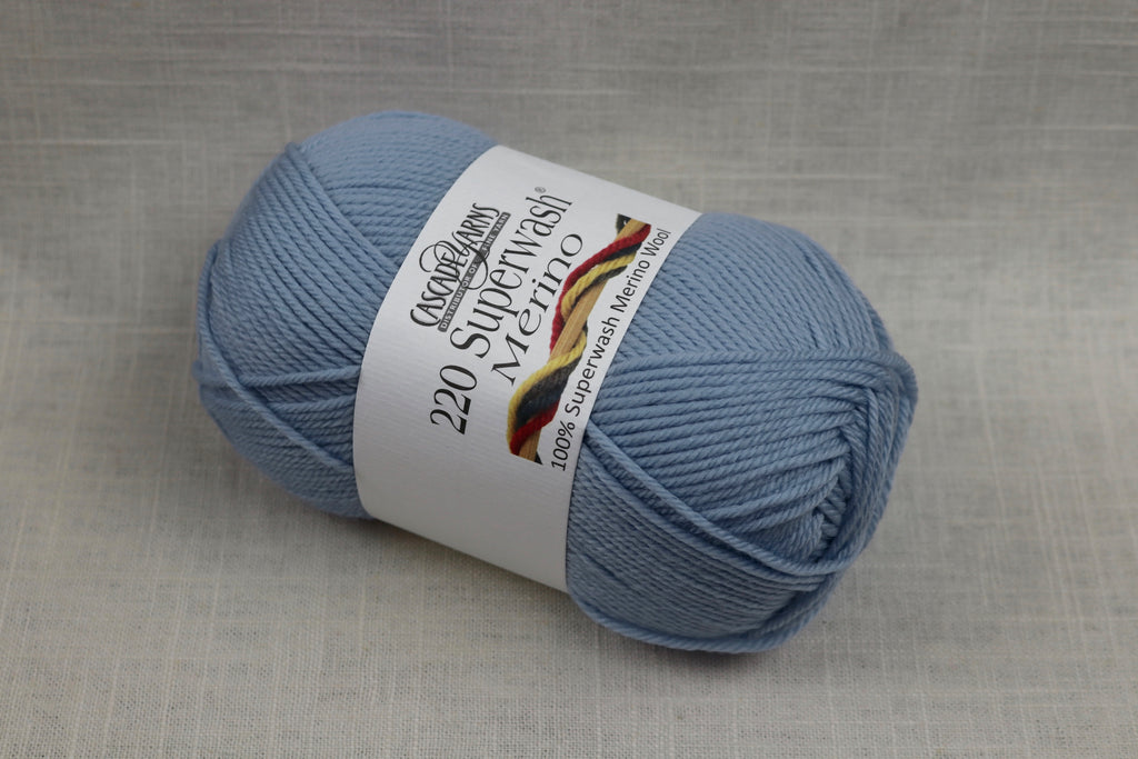 cascade yarns 220 superwash merino 31 baby blue
