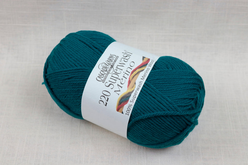 cascade yarns 220 superwash merino 34 dark teal