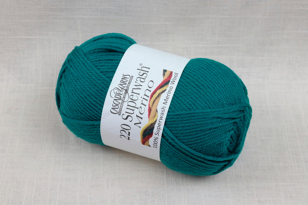 cascade yarns 220 superwash merino 35 teal