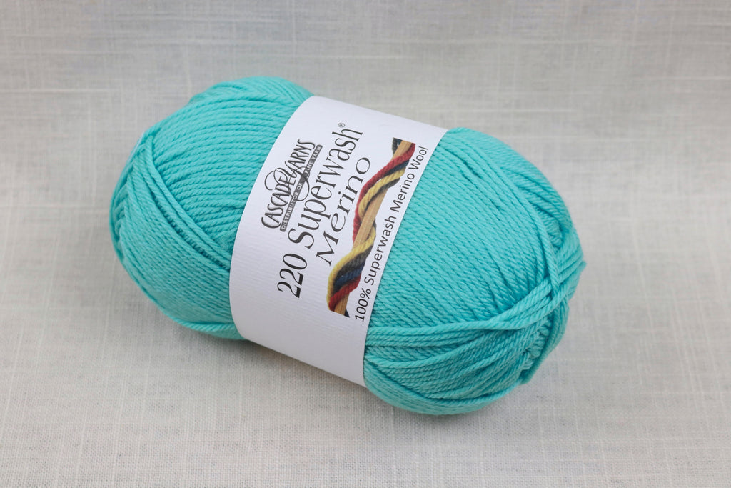 cascade yarns 220 superwash merino 36 aqua