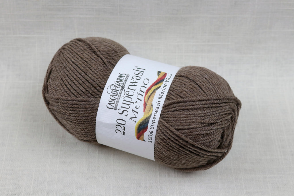 cascade yarns 220 superwash merino 39 walnut heather