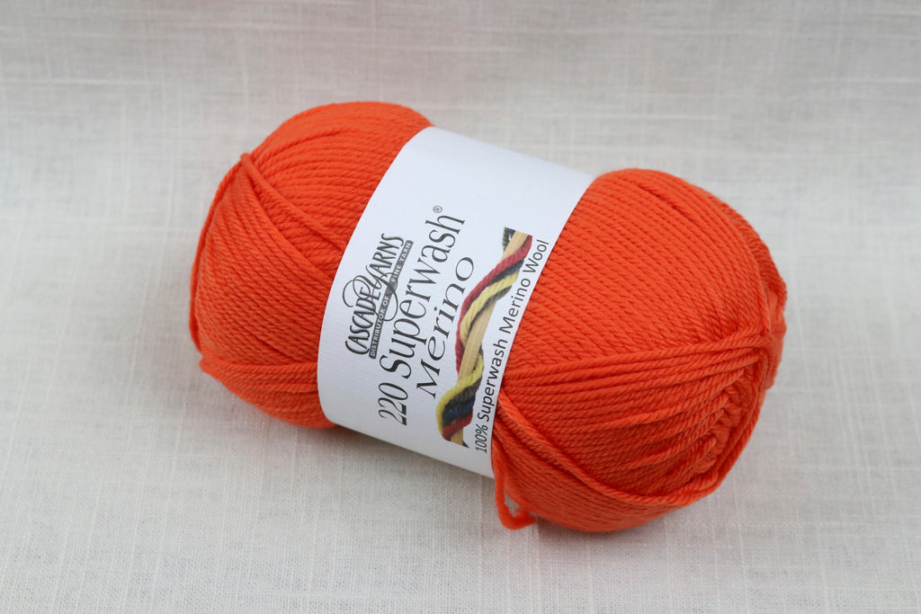 cascade yarns 220 superwash merino 41 carrot
