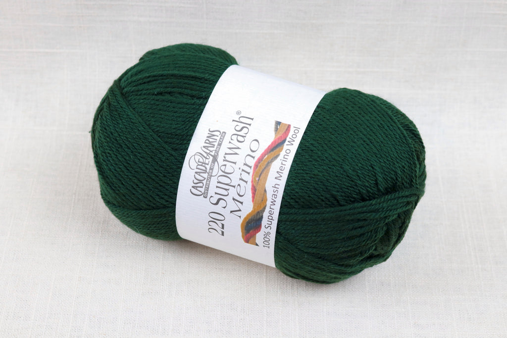 cascade yarns 220 superwash merino 43 pine