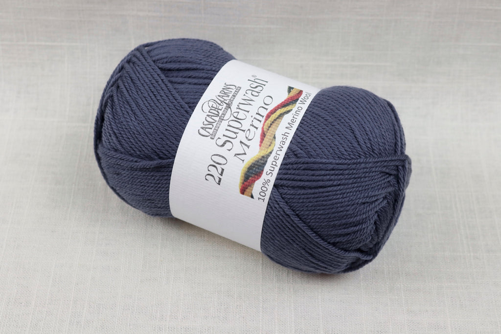 cascade yarns 220 superwash merino 52 blue indigo