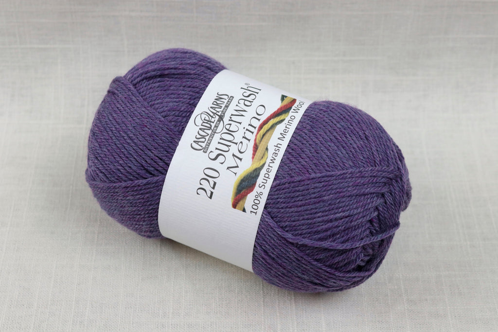 cascade yarns 220 superwash merino 77 violet heather