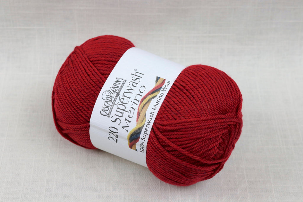 cascade yarns 220 superwash merino 85 christmas red heather