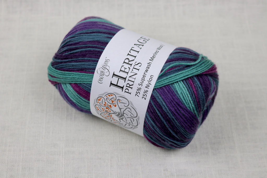 cascade yarns heritage prints 65 grapevine stripe