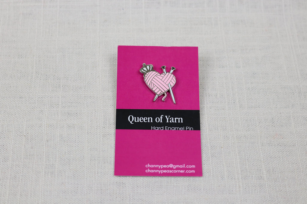 ChannyPea Enamal Pin queen of yarn knit