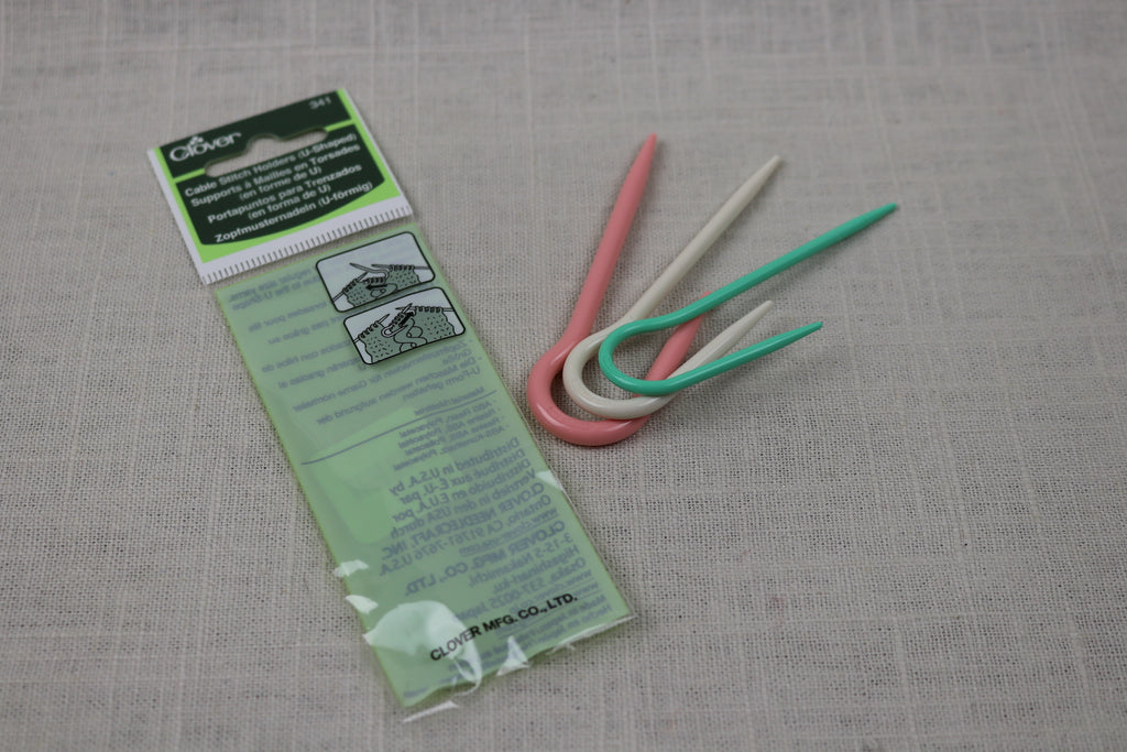 clover cable stitch holder U shaped 341