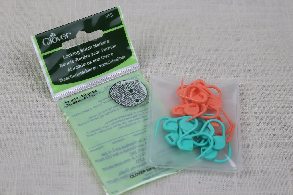 clover locking stitch markers No. 353