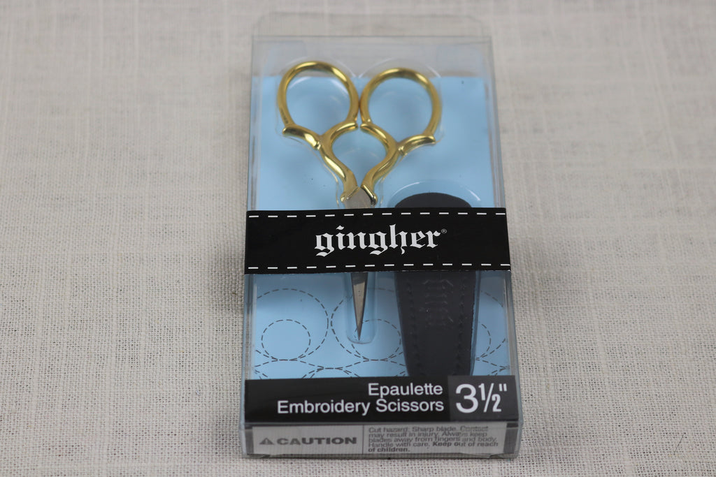 gingher embroidery scissors epaulette package