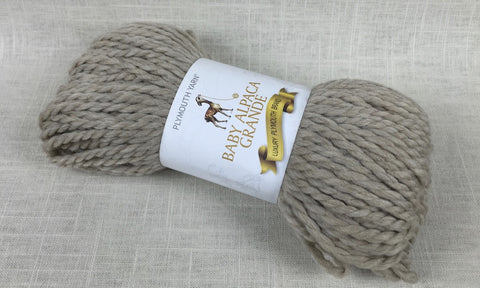 plymouth yarn baby alpaca grande super bulky 282 fox light brown natural