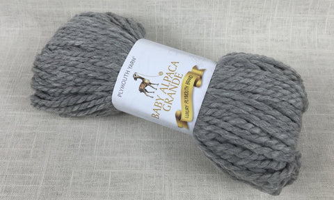 plymouth yarn baby alpaca grande super bulky 401 light grey