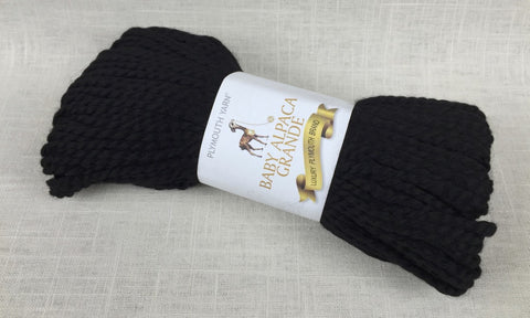 plymouth yarn baby alpaca grande super bulky 500 black