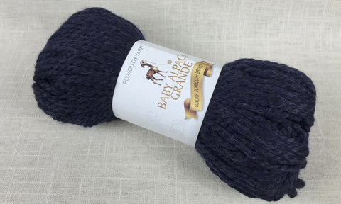 plymouth yarn baby alpaca grande super bulky 638 dark denim blue
