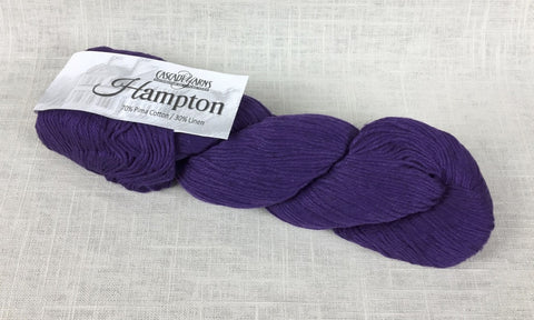 cascade yarns hampton linen cotton DK 01 acai purple
