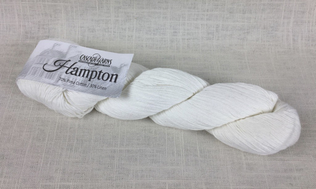 cascade yarns hampton linen cotton DK 03 white