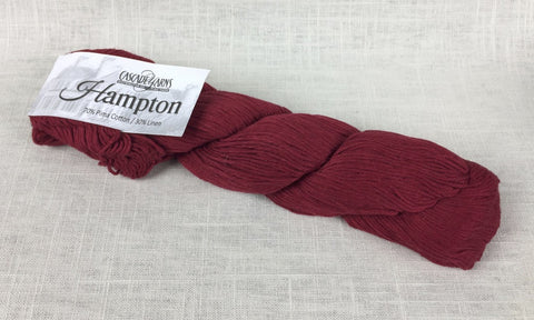 cascade yarns hampton linen cotton DK 06 red