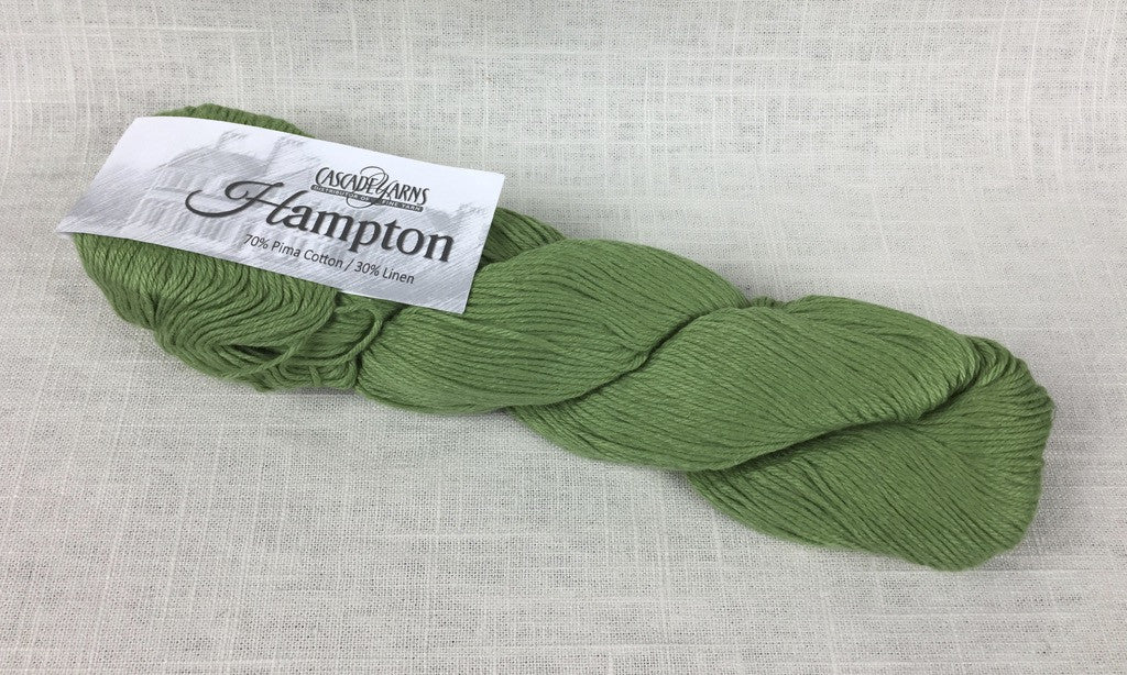 cascade yarns hampton linen cotton DK 10 green tea