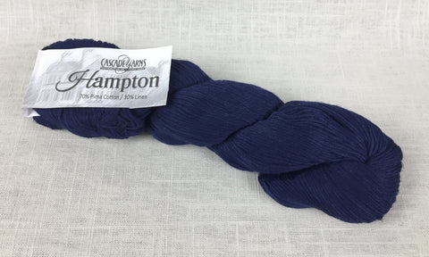 cascade yarns hampton linen cotton DK 12 navy