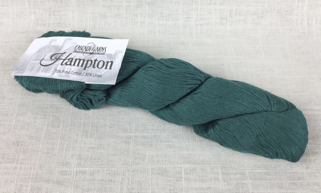 cascade yarns hampton linen cotton DK 15 deep teal