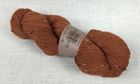 plymouth yarn homestead tweed 530 burnt orange
