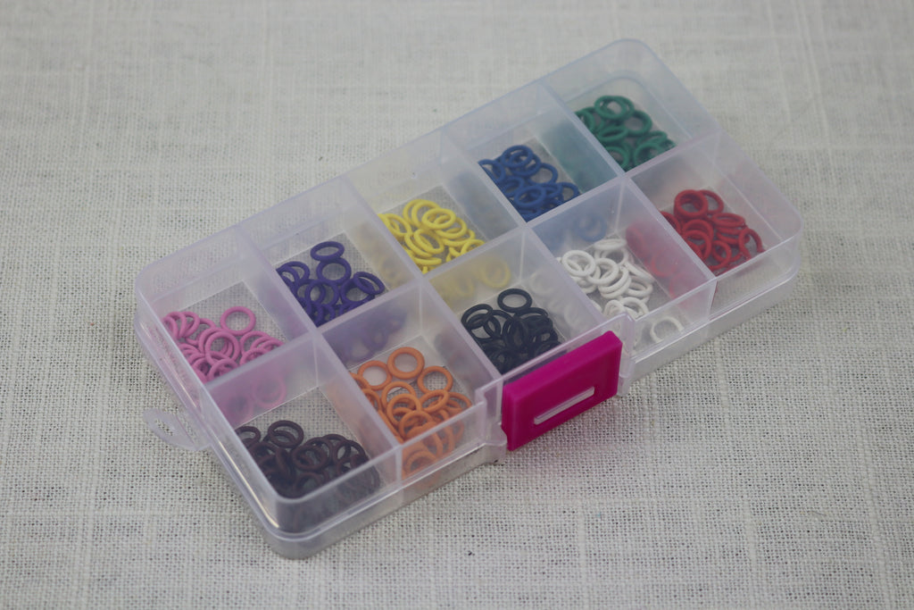 knitter' helper silicon stitch markers box of 10 colors 5mm