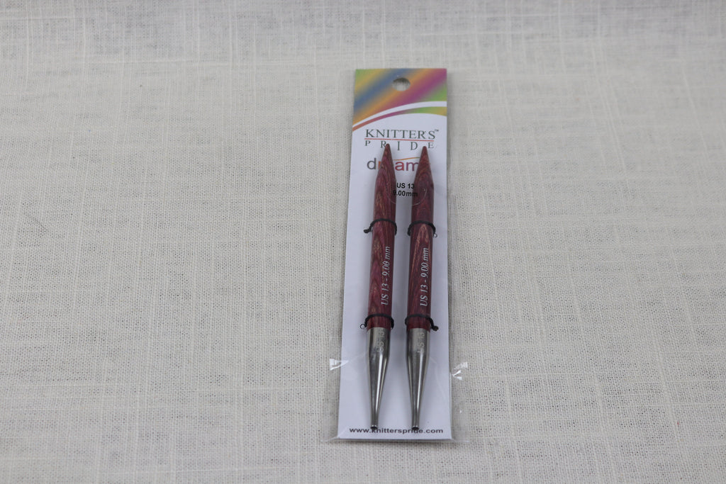 knitters pride 5 inch interchangeable tips US 13 (9mm)