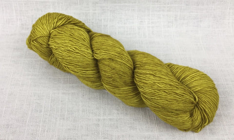 malabrigo mechita single ply fingering MTA035 frank ochre