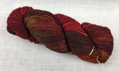 malabrigo mechita single ply fingering MTA227 volcan