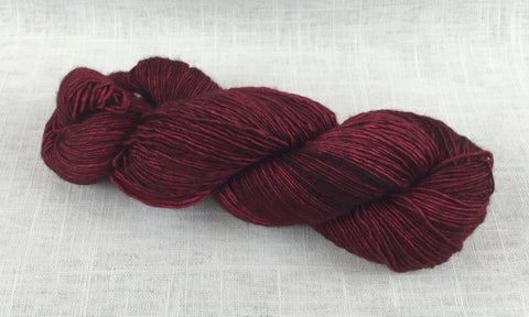 malabrigo mechita single ply fingering MTA033 cereza red