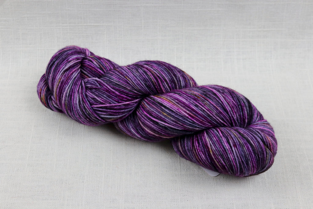 ryberry yarns signature fingering polychromatic purple
