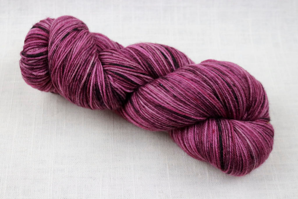 ryberry yarns signature merino fingering plum pudding