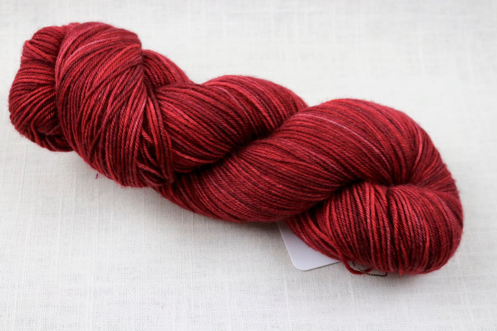 ryberry yarns signature merino fingering pointsettia