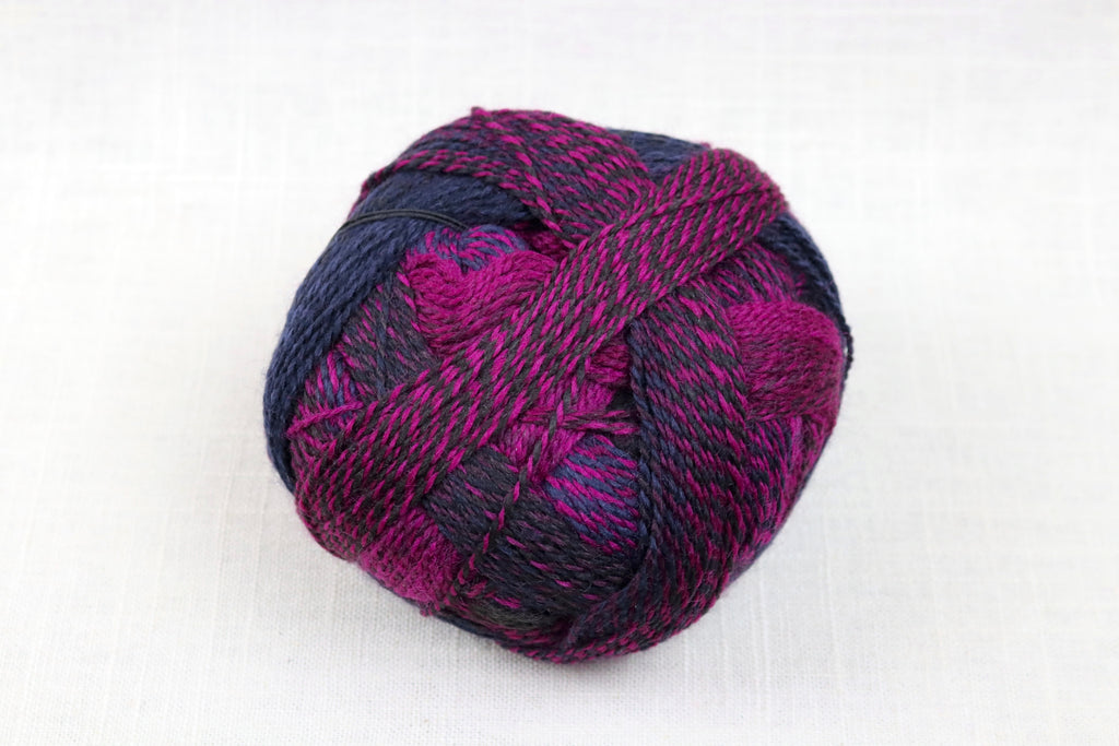 schoppel-wolle zauberball crazy wool nylon fingering self-striping 2082 fuchsia and black