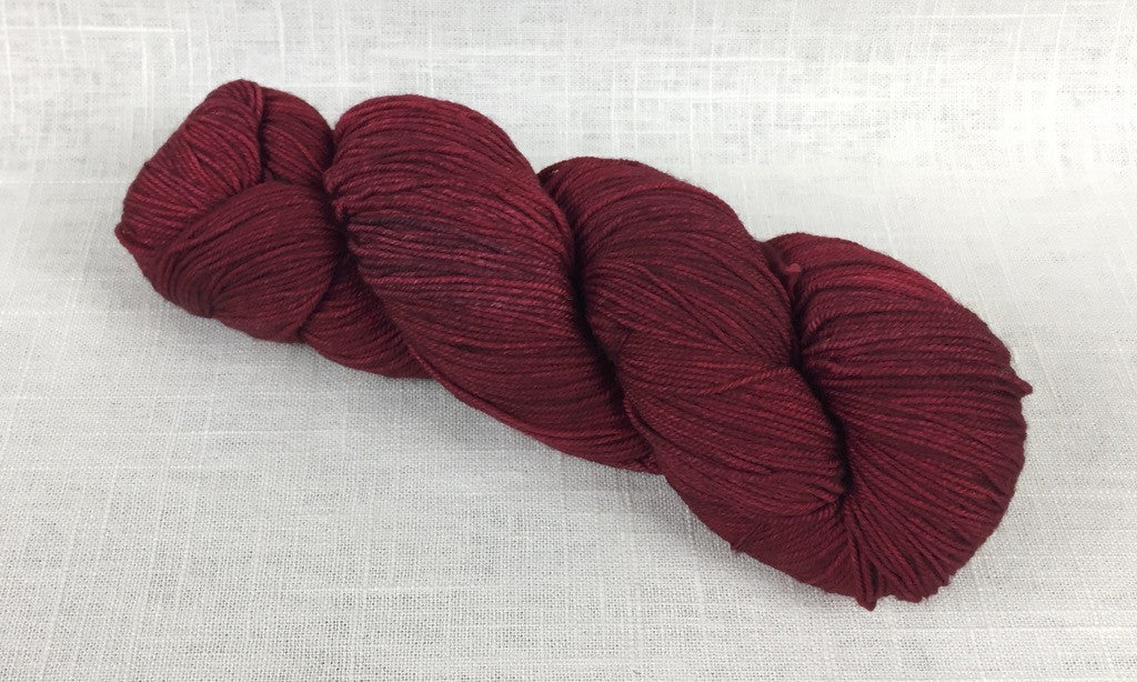malabrigo sock sw003 cereza red