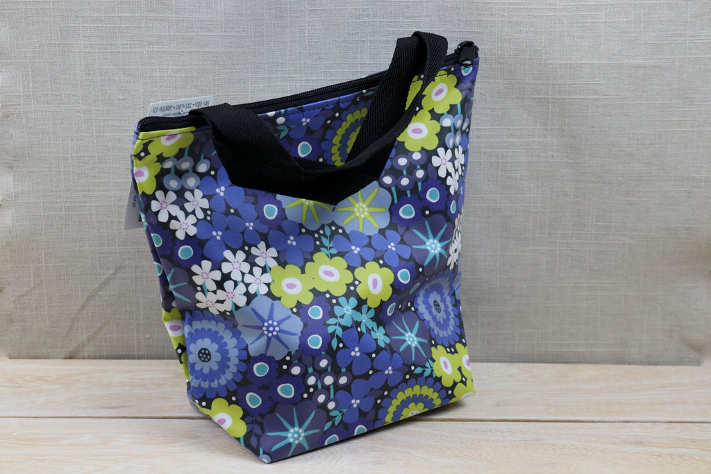 splash fabric zippered lunch sack ravenna