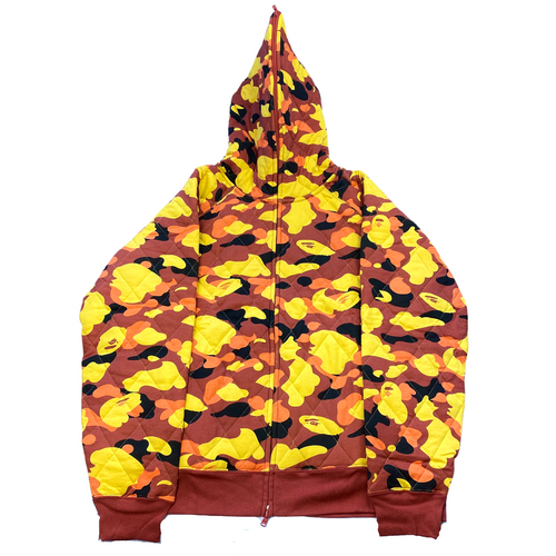 2XL DSWT Quilted Camo Jacket Red Yellow