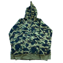 Load image into Gallery viewer, 2XL BAPE DSWT Quilted Camo Jacket Green