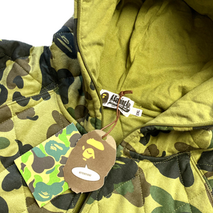 2XL BAPE DSWT Quilted Camo Jacket Green