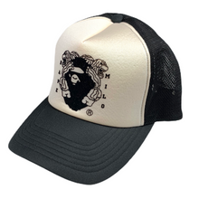 Load image into Gallery viewer, Bape Lions Emblem Trucker Hat