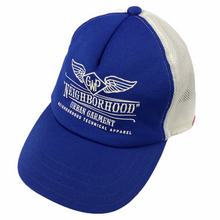 Load image into Gallery viewer, Neighborhood Emblem Blue Trucker Hat