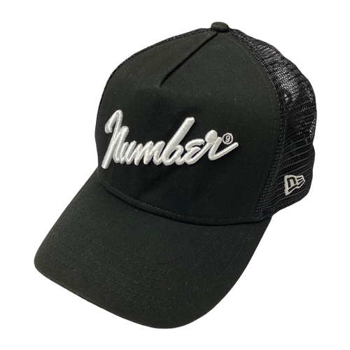 Number Nine x New Era Black Trucker Hat