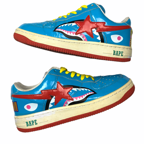 9 Bape Sta Teal Blue WGM Shark
