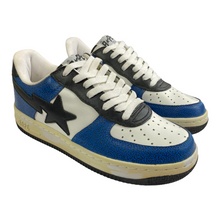 Load image into Gallery viewer, 9 Bape Blue Cement Print Leather Sta With Box