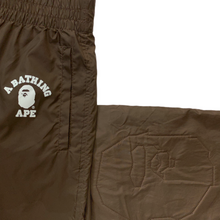 Load image into Gallery viewer, M Bape Brown Nylon Ape Head Pants
