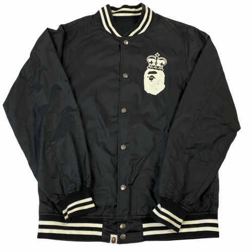 XL Bape King Logo Varsity Jacket