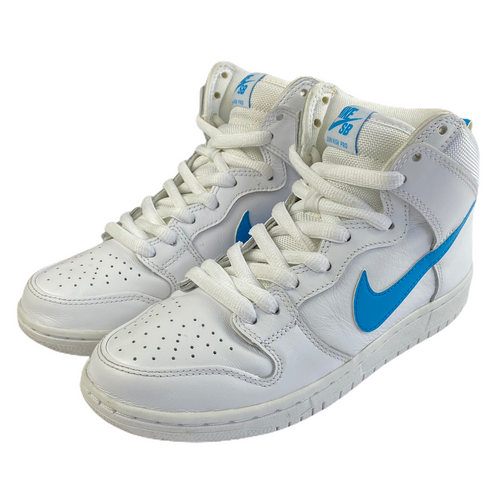 6 Nike Dunk High SB White/Blue Mulder""